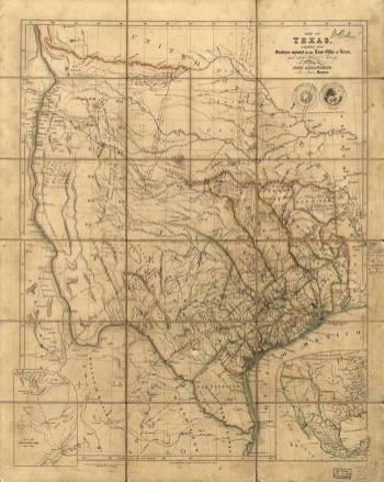 Texas Map 1841 by John Arrowsmith and William Bollaert